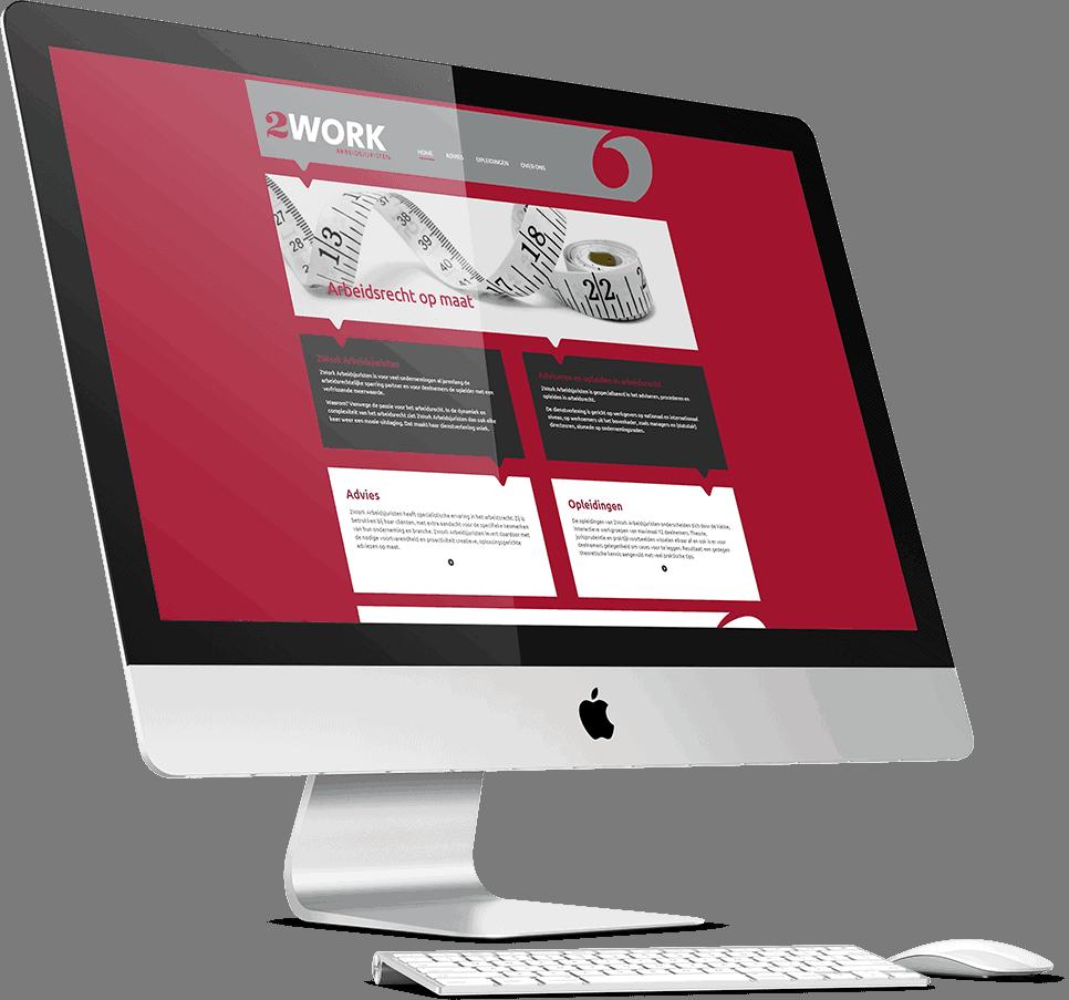 De website van 2Work Arbeidsjuristen