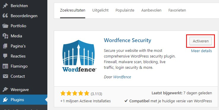 WordPress plugin activeren